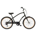 "Велосипед 26"" Electra Townie Original 7D Men's Black w/orange rims"