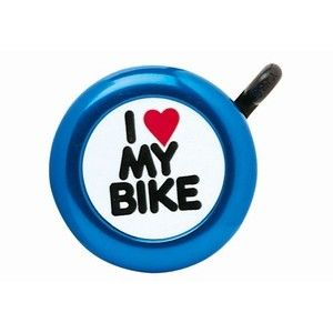 Звонок Green Cycle GCB-1051A-BK I love my bike стальной синий