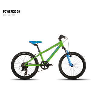 Велосипед GHOST Powerkid 20 green/cyan/black_2016