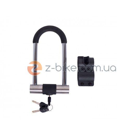 Замок Green Cycle U-lock GCL-SU2S на ключе с дугой 78x170mm, серо-черный LCK-72-69